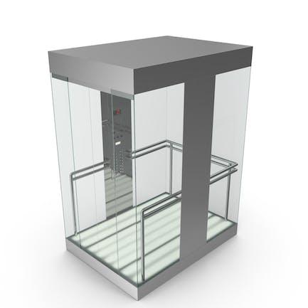 Glass Aufzug Auto