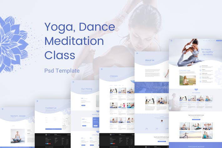 Thumbnail for Yoga Class - Meditation & Dance Class Psd Template