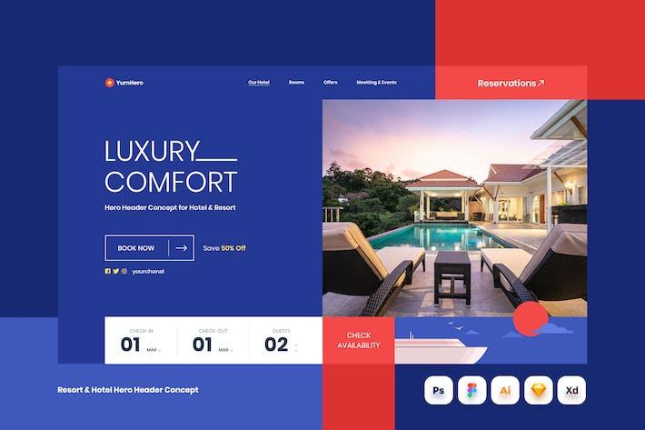 Resort & Hotel Hero Header Concept