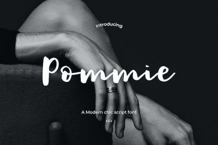 Thumbnail for Pommie - police de script chic moderne