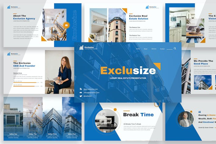 Thumbnail for Exclusize - Real Estate Google Slides
