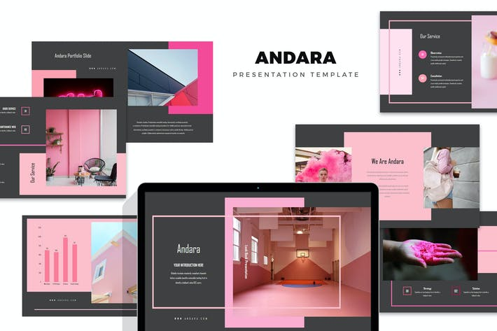 Andara : Pink Color Tone Lookbook Keynote