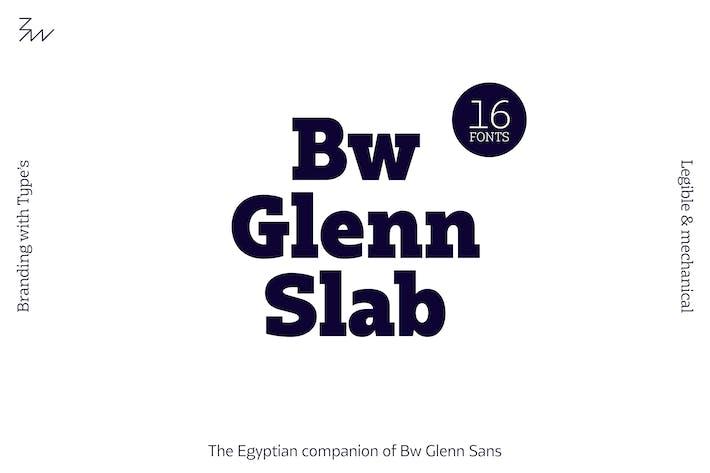 Thumbnail for Bw Glenn Slab font family