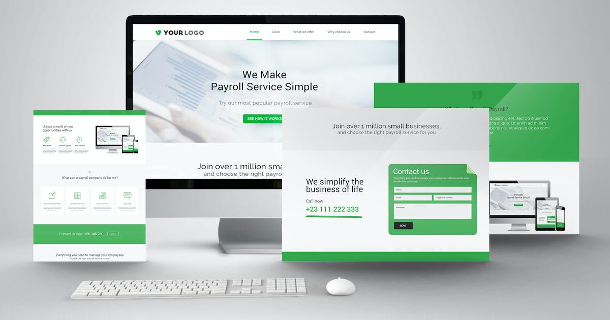 Download Payroll & Salary Landing Page Website PSD Template by Nagaredesignstudio