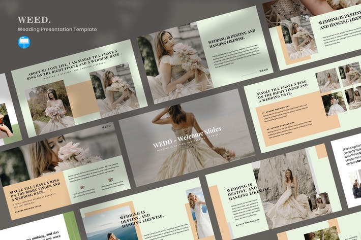 Thumbnail for WEDD - Wedding Presentation Keynote Template