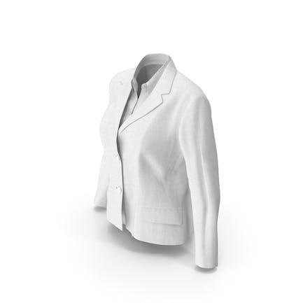 Chaqueta Mujer Con Camisa Blanco