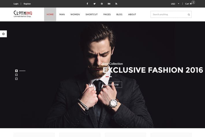 Thumbnail for Clothing - eCommerce Fashion Template