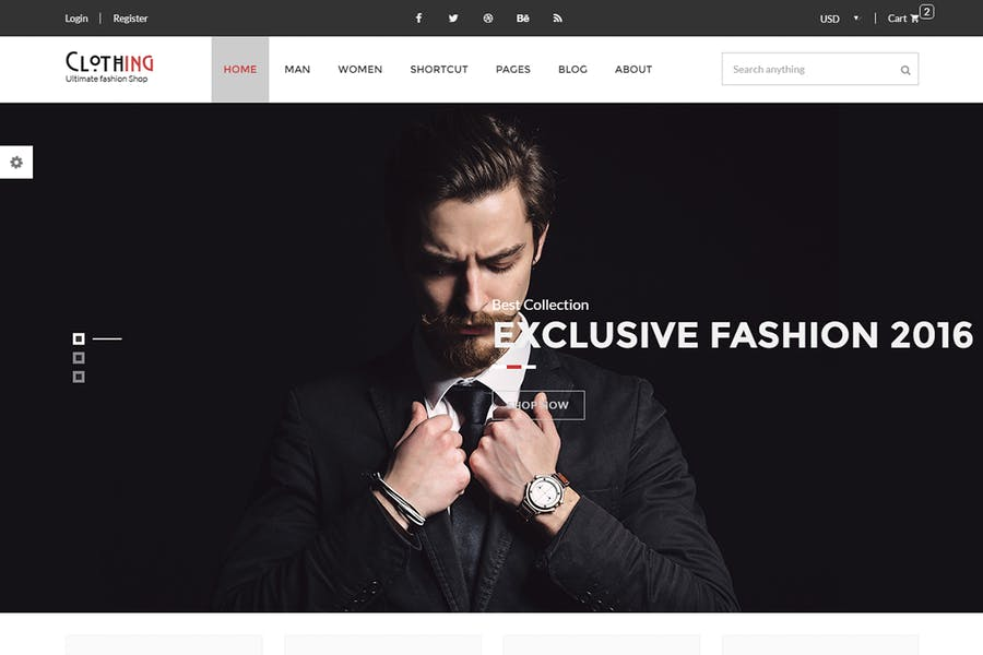 Clothing - eCommerce Fashion Template