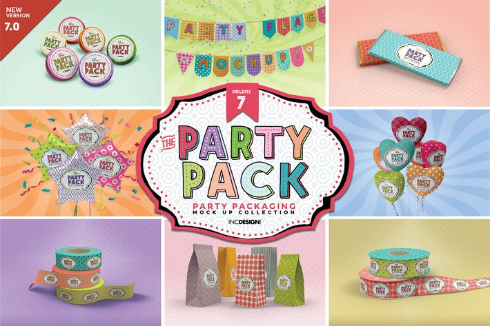 Cover Image For Party Packaging Mockups Volume7