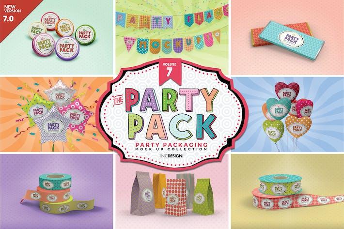 Party-Verpackungen Mock-ups Volume7