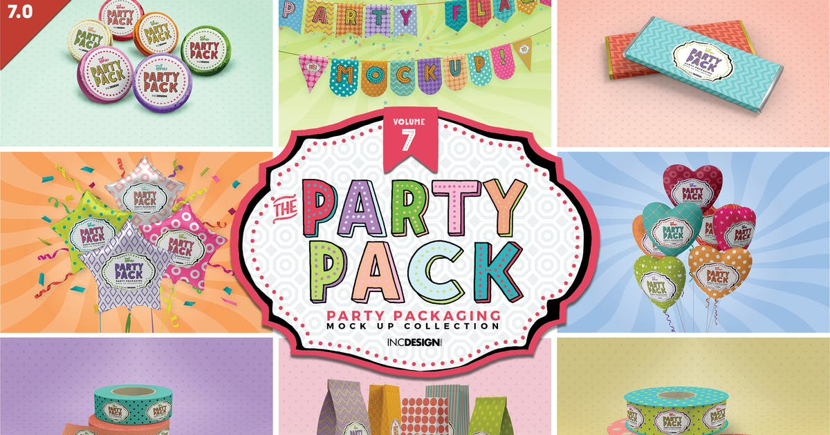 Download Party Packaging Mockups Volume7 by ina717