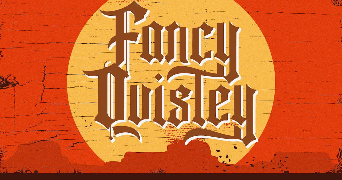 Download Fancy Quisley - Blackletter Font by StringLabs