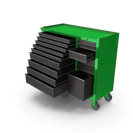 Opened Tool Box Green