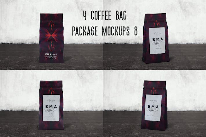 Thumbnail for 4 Coffee Bag Package Mockups 8