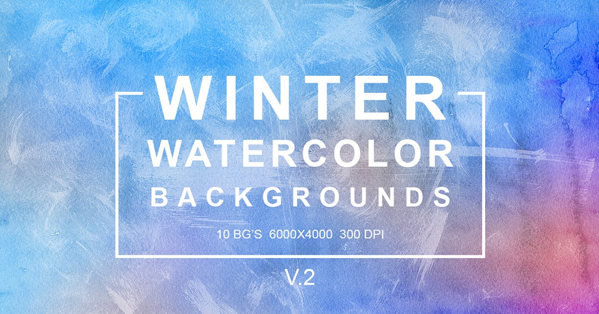 Download Winter Watercolor Backgrounds vol.2 by FreezeronMedia