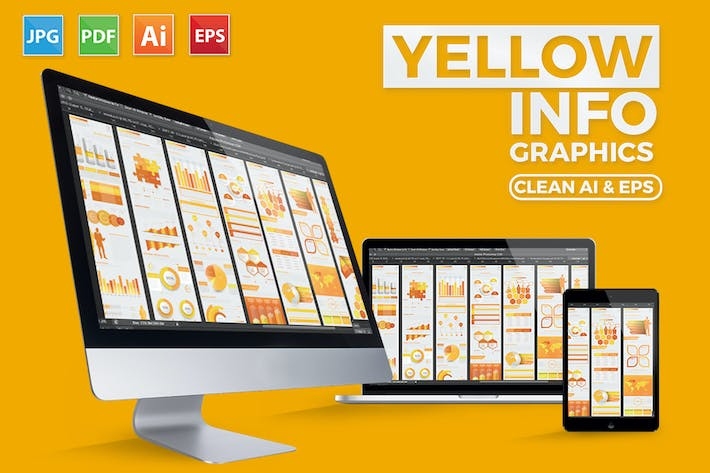 Thumbnail for Yellow Pack Infographics Design