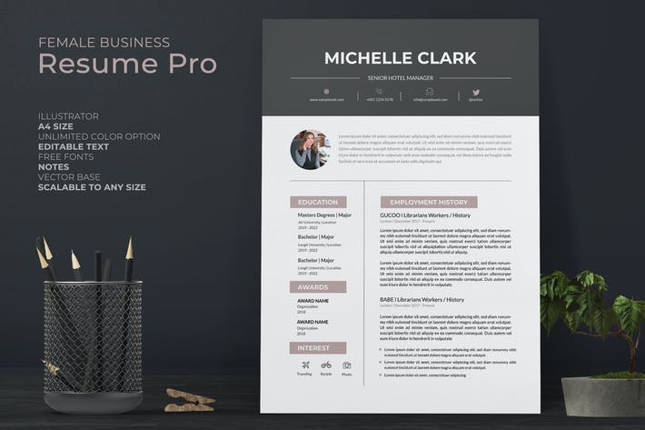 Thumbnail for Receptionist Resume Pro