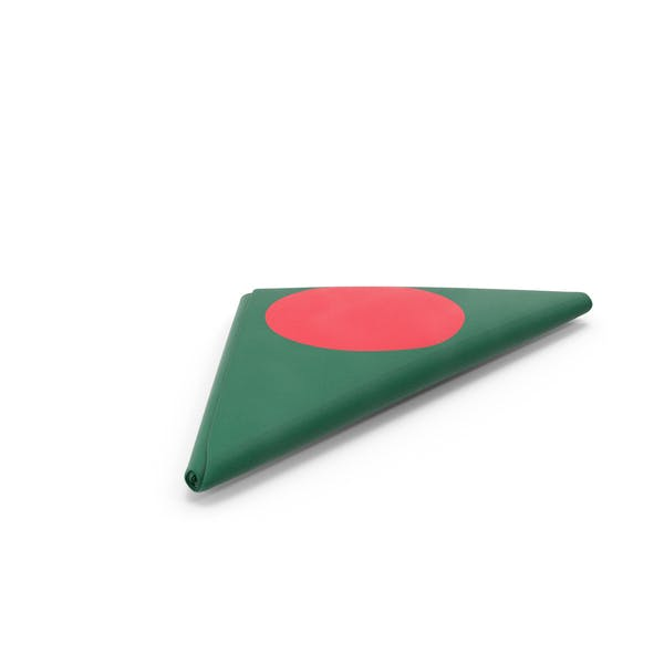 Flag Folded Triangle Bangladesh