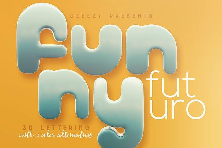 Thumbnail for Funny Futuro – 3D Lettering