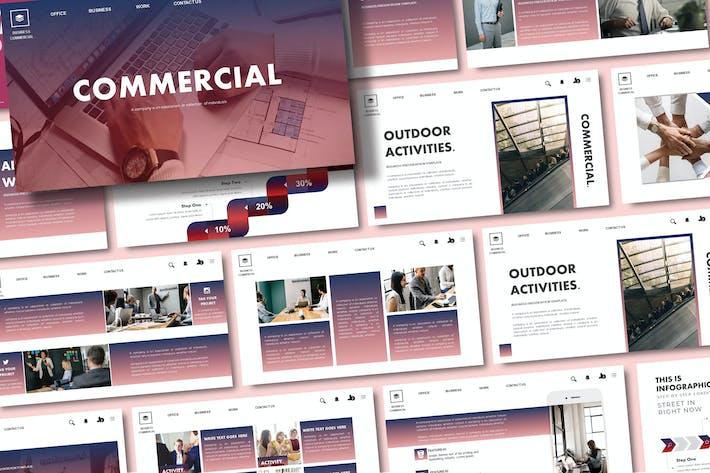 Thumbnail for Коммерческие - Шаблон слайдов Google