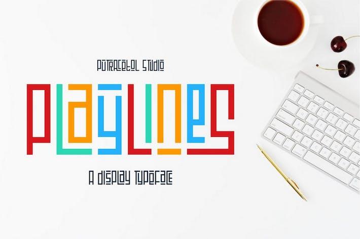 Thumbnail for Líneas de juego - Fuente de visualización de línea única
