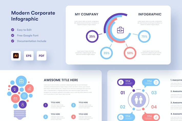 Современная Корпоративный инфографика - Muzitemp