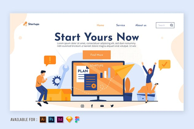 Strategy Business Plan - Web Illustration
