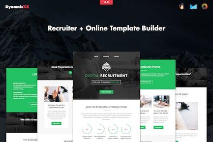 Recruiter - Responsive Recruitment Email + Builder