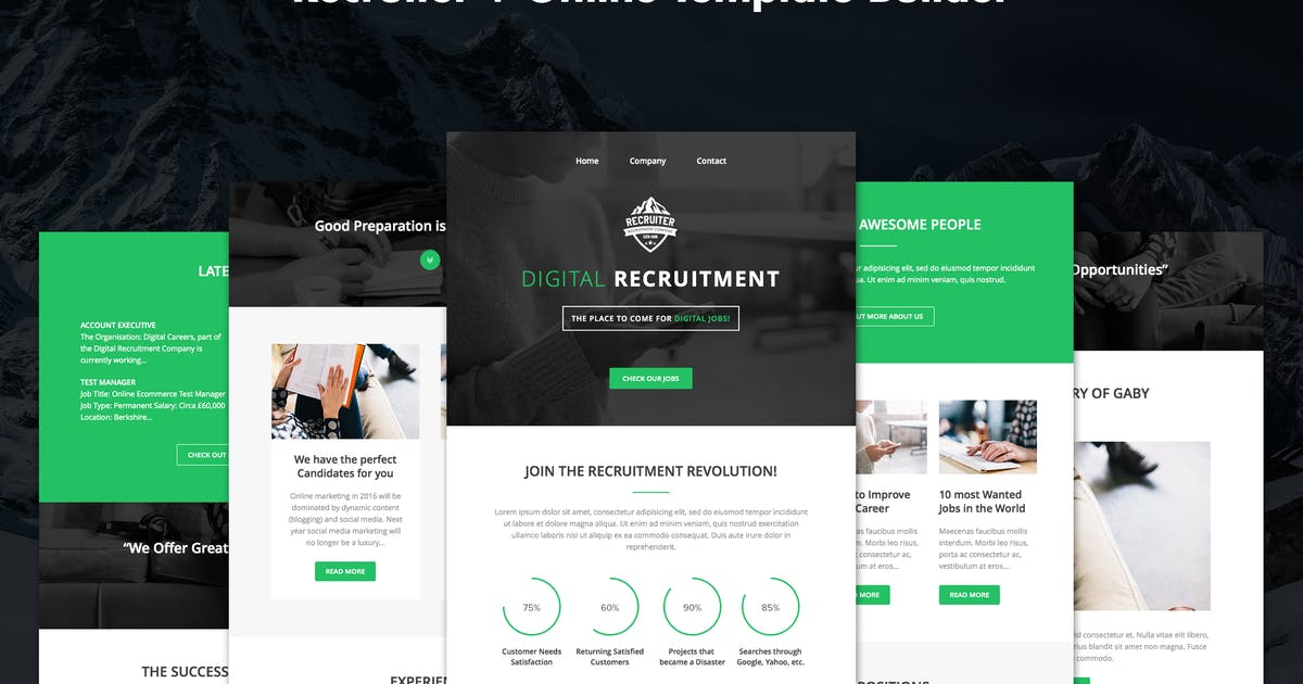 Download Recruiter - Responsive Recruitment Email + Builder by DynamicXX