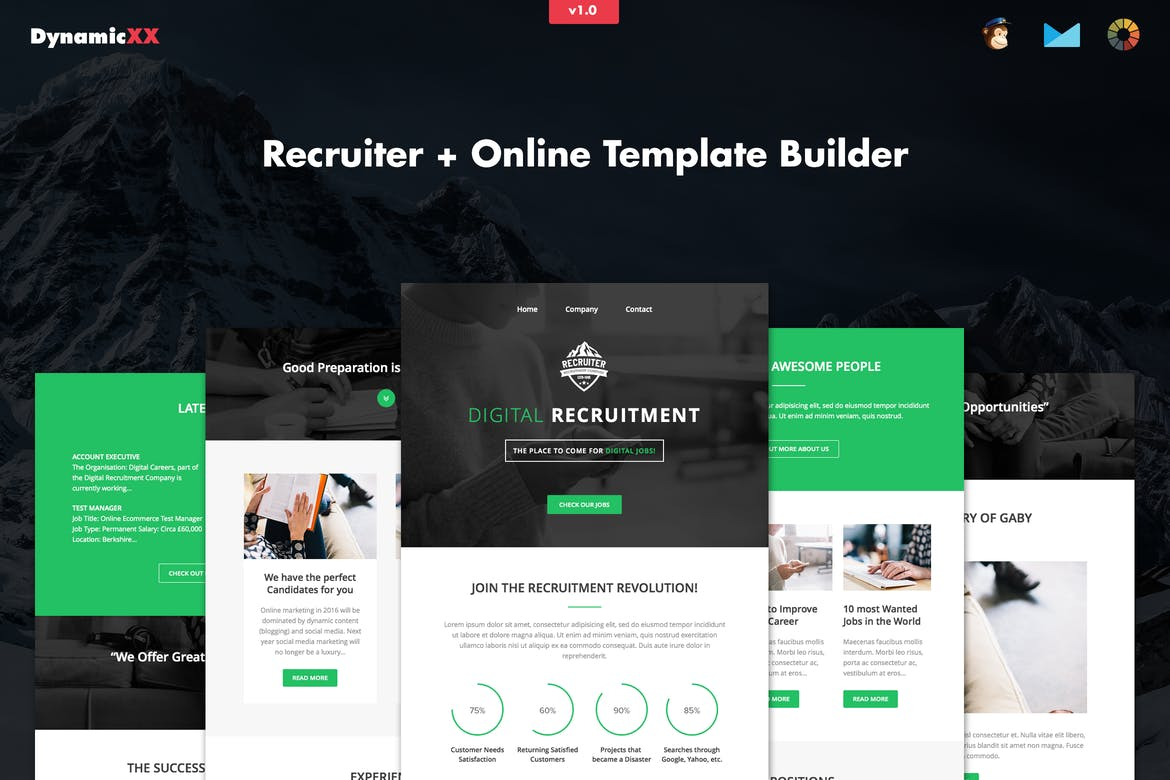 Free Responsive Email And Newsletter Templates - Mobile friendly email templates