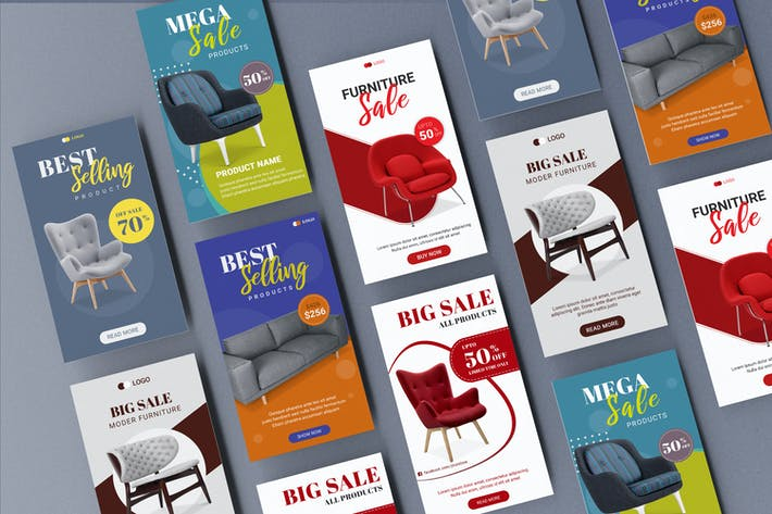Thumbnail for Furniture Sale Instagram Stories Template