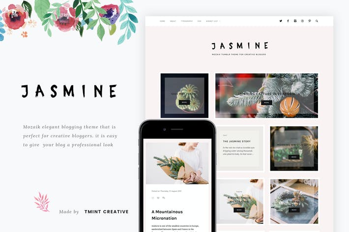 Thumbnail for Jasmine - Mozaik Tumblr Theme