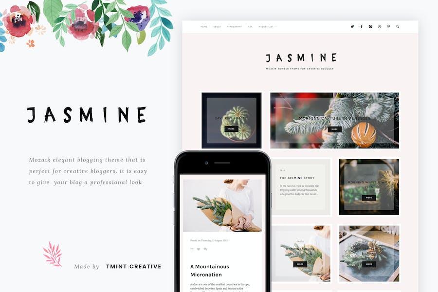 Jasmine - Mozaik Tumblr Theme