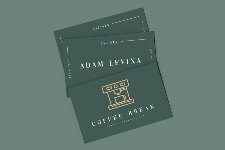 Coffee break business card template