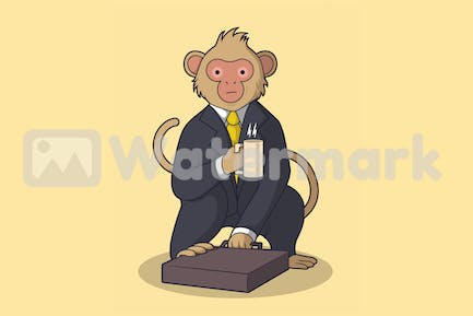 Monkey in business suit