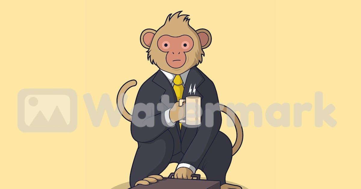Download Monkey in business suit by fernandespedro