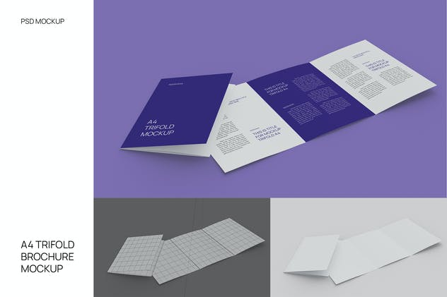 A4 Brochure Mockup Perspective WIth Cover