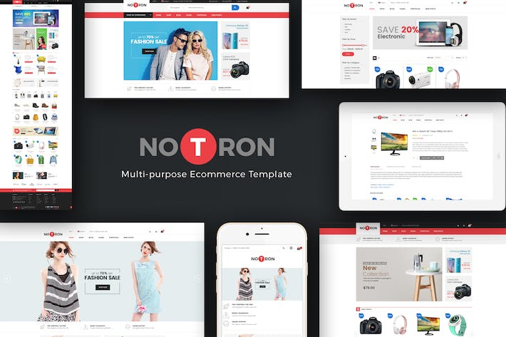 Thumbnail for Notron - Responsive Magento Theme