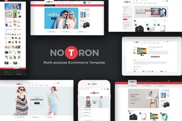 Thumbnail for Notron - Responsive Magento Thème