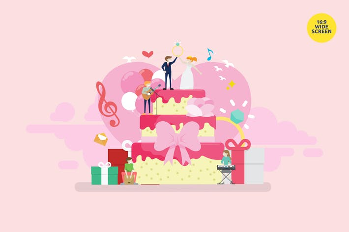 Thumbnail for The Wedding Band Vector Illustration Concept