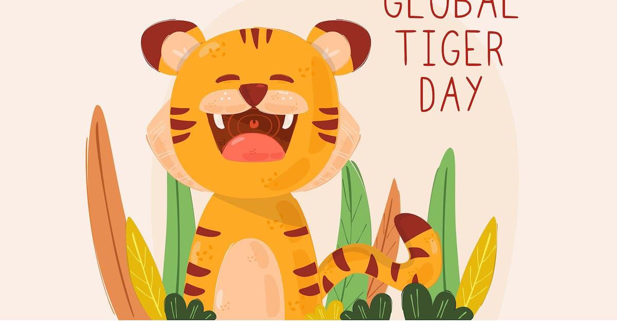 Download Global Tiger Day Illustration by april_arts