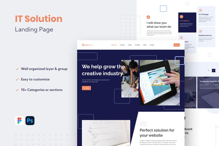 Thumbnail for IT Solution Website Landing Page