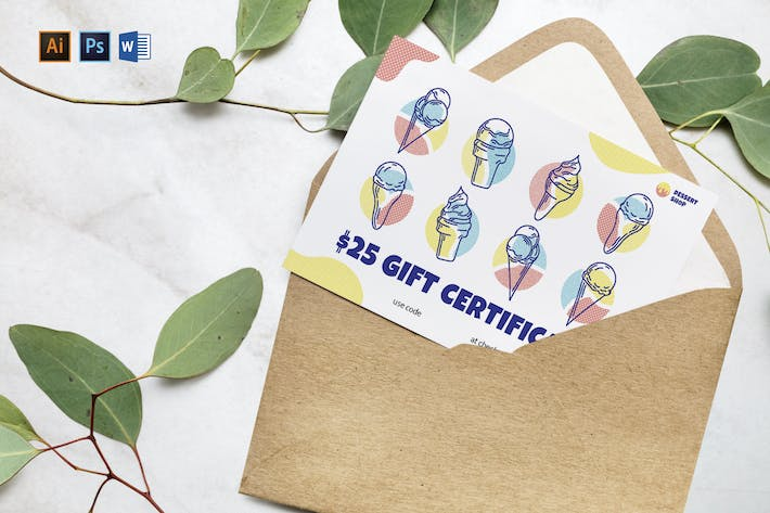 Ice Cream Shop Gift Certificate