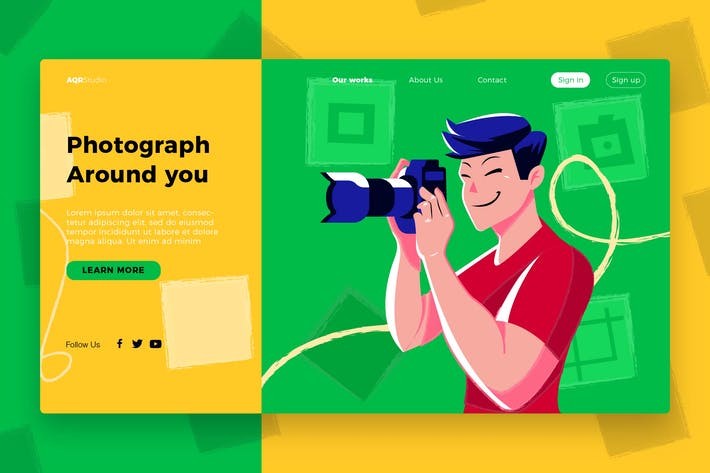 Thumbnail for Photographer - Banner & Landing Page