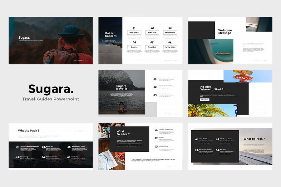 Sugara : Travel Guides Powerpoint Template