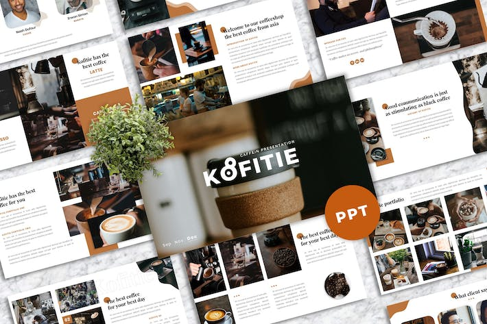 Thumbnail for Kofitie – Coffeeshop Business PowerPoint Template