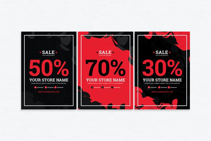 thumbnail for sale flyer template
