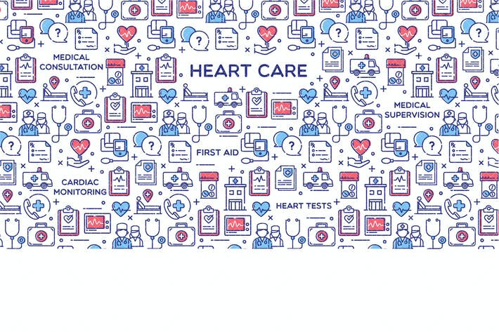 Heart Care Vector Illustration