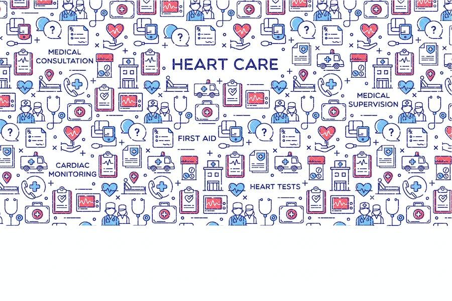 Heart Care Vector Illustration