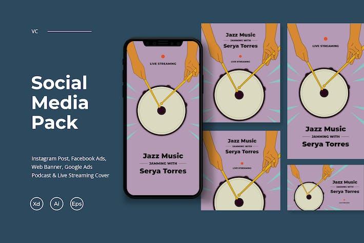 Thumbnail for Social Media Pack - Música en vivo